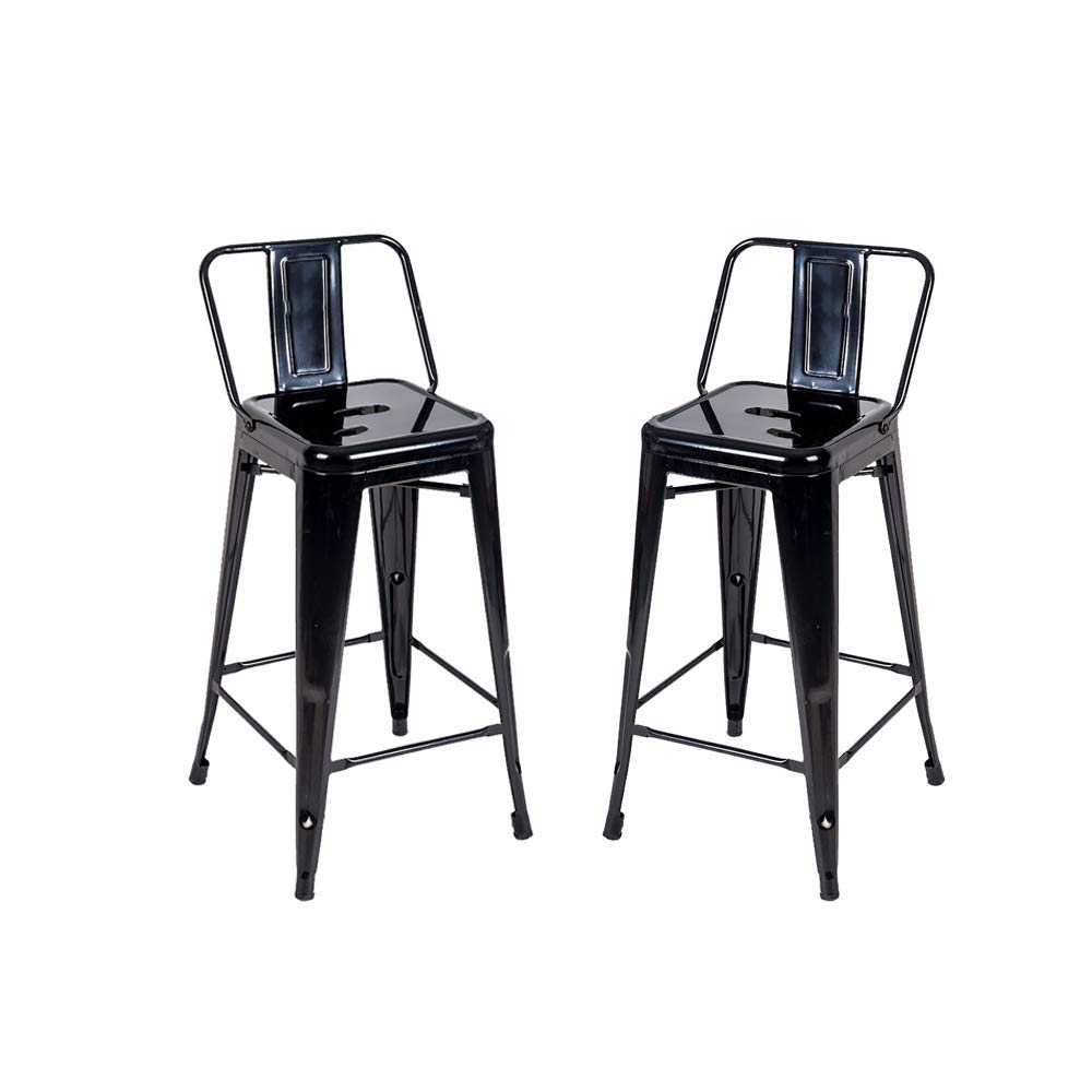 Romatlink Industrial Counter Height Stools, Metal Counter Height Bar Stool for Indoor