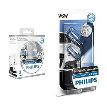 Philips 12972WHVSM bombilla para coche - bombilla para coches (55W, H7, Halógeno)