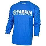 Automotive : OEM Yamaha Pro Fishing 100% Cotton Long Sleeve Blue T-Shirt X-Large