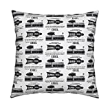 Roostery Edsel Eco Canvas Throw Pillow Nifty Fifties Edsel Car Dealership Advertisement Beamer by Edsel2084 Cover and Insert Included by