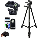 I3ePro Professional 72-inch Tripod 3-way Panhead Tilt Motion with Built In Bubble Leveling + Wireless IR Remote Control Shutter Release for Canon EOS 70D, 60D, 7D, 7D Mark II, SL1, T6s, T6i, T5i, T4i, T3i, T2i, T1i, XSi, XTi, XT, EOS M, 6D, 5D Mark II & 5D Mark III Digital Cameras