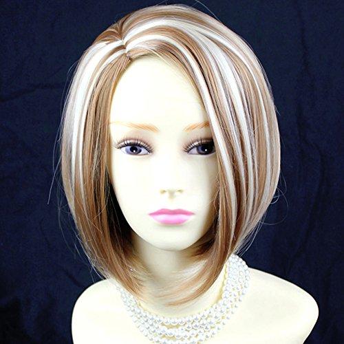 Classy Sophisticate Short Bob Skin Top Blonde mix Ladies ()