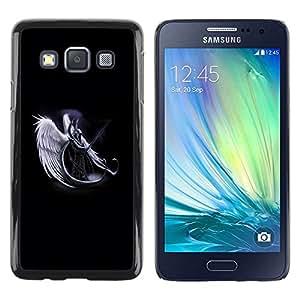 Be Good Phone Accessory // Dura Cáscara cubierta Protectora Caso Carcasa Funda de Protección para Samsung Galaxy A3 SM-A300 // Horned Angel Warropr