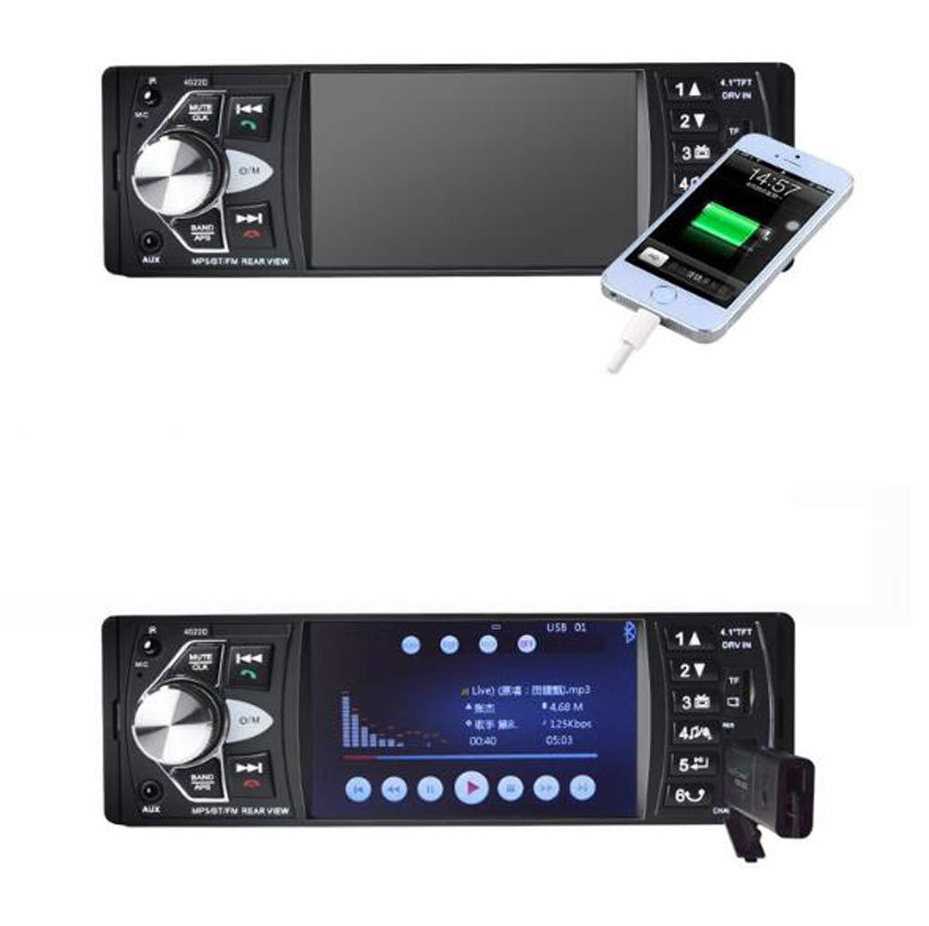 ABBY AFENG Radio De Coche De Audio USB/SD/MP3 Receptor Bluetooth Manos Libres con Control Remoto Negro: Amazon.es: Electrónica