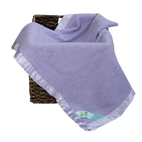 Bamboo Toddler Security Baby Blanket to Snuggle with Your Little One - Natural Hypoallergenic Purple Throw Blanket - Perfect Travel Blanket and Unisex Registry! 34 x 47 inches