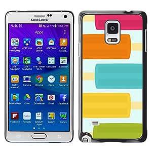[Neutron-Star] Snap-on Series Teléfono Carcasa Funda Case Caso para Samsung Galaxy Note 4 [Pastel comida bastante Colores dulce]