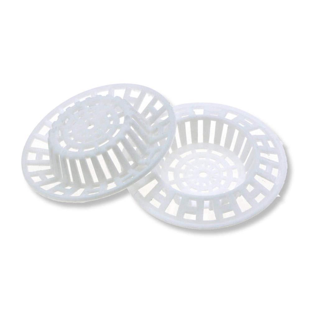 Paquet de 2 Blanc Ogquaton Filtre d/évier de Cuisine en Plastique 7 cm Set de Tamis de lavabo de Bain