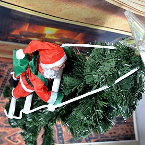 Halvorsea Decoración navideña Dulce Papá Noel Escaleras ...