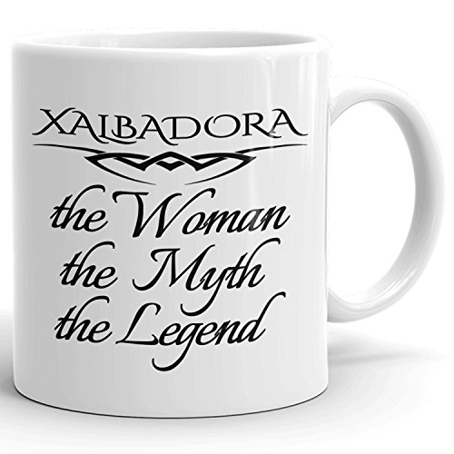 Best Personalized Womens Gift! The Woman the Myth the Legend - Coffee Mug Cup for Mom Girlfriend Wife Grandma Sister in the Morning or the Office - X Set 1