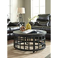 Marimonns Black Round Cocktail Table