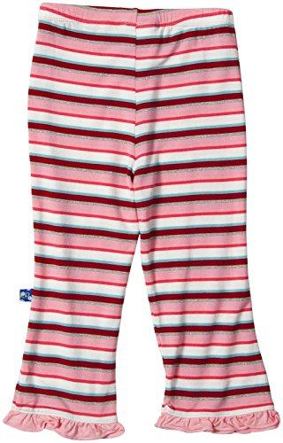 Kickee Pants Print Ruffle Pants (Baby) - Bobsled Stripe-3-6 Months