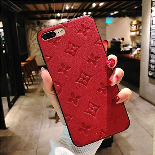 Jiehao Apple iPhone 7 Plus/8 Plus Case,Ultra-Thin Stylish TPU Case Cover, Elegant Luxury Monogram Flower Pattern Anti-Scratch Shock Absorption Protective Phone Case for iPhone 7/8 Plus 5.5
