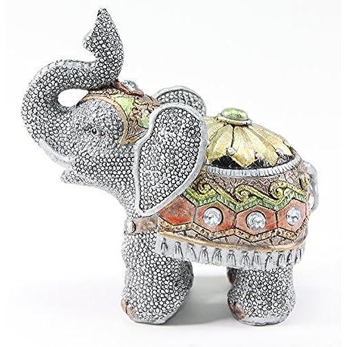 Feng Shui 5H Elephant Wealth Lucky Figurine Home Decor Housewarming Gift US Seller
