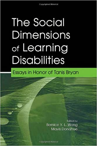 Advanced English Essays The Social Dimensions Of Learning Disabilities Essays In Honor Of Tanis  Bryan The Lea Series On Special Education And Disability Healthy Eating Habits Essay also Thesis Statement Examples For Narrative Essays Amazoncom The Social Dimensions Of Learning Disabilities Essays  High School Admission Essay Sample