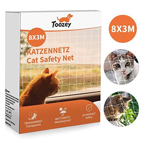 🥇 Toozey cat net red de protección de gato para balcón y ventana