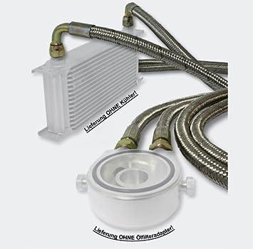 Manguera blindada de acero 1 x 1,25m radiador de aceite conexión universal