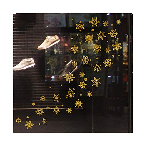 HHmei Christmas Restaurant Mall Decoration Snow Glass Window Removable Stickers Decorations Outdoor Tree Table Lights Blue Home Set Silver Wall Ornaments Party Napkins Yellow