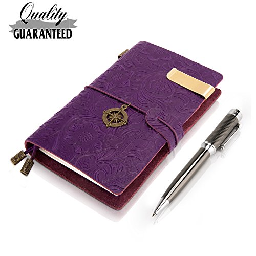 Field Notes Cover Pocket Leather Journal With 3 Dotted Notebook Insert + Fashion Pen-5.5