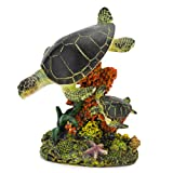 Penn Plax Swimming Sea Turtle Aquarium Decor, Medium