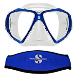 Scubapro Spectra Mask, Blue w/Neoprene Strap Cover
