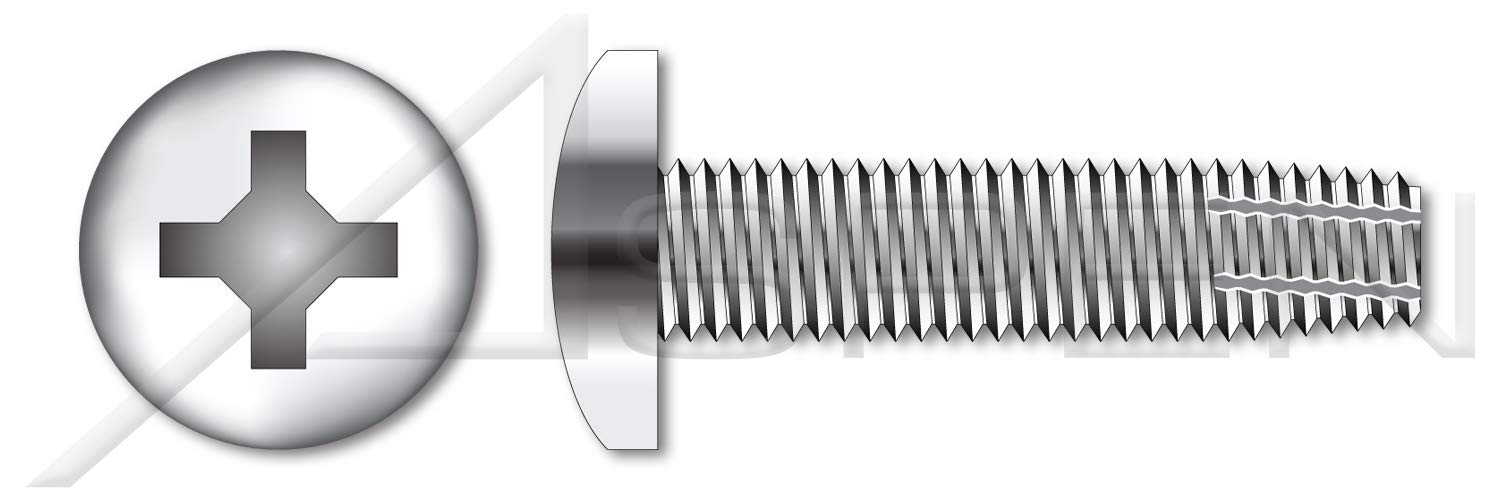 (5000 pcs) #4-40 X 3/8'', Thread-Cutting Screws, Type''F'', Pan Phillips Drive, AISI 410 Stainless Steel by ASPEN FASTENERS