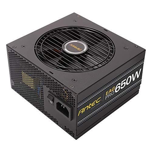 Antec EarthWatts Gold Pro 650W Power Supply 650 Watt 80 Plus Gold PSU with 120mm Silent Cooling Fan, Semi Modular, 7 Year Warranty, 99% +12V and ATX12V 2.4 - EA650G PRO Black (Modular Level Split)