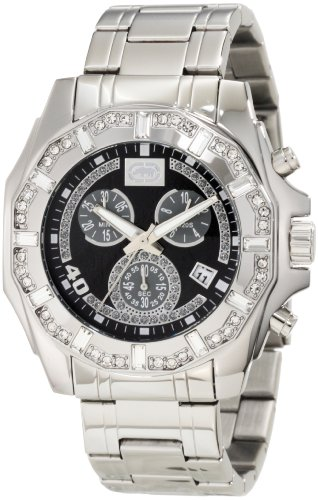 Rhino by Marc Ecko Men's E8M055MV Stone on Metal Three-Eye Chronograph Watch