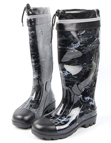 Adult Mens Antiskid Rubber Sole Waterproof Work Shoes Rain Boots C eH0A2Hwf