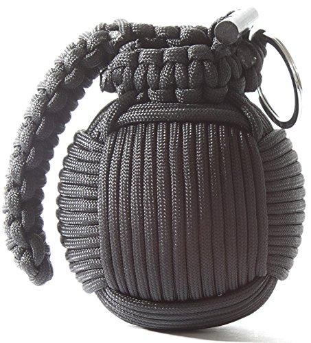 Holtzman's Survival Kit Paracord Grenade The #1 BEST 48 tool emergency kit (Solid Black)