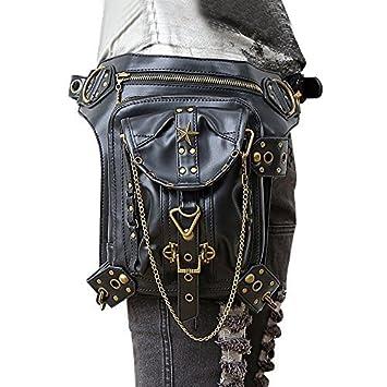 Packs Gothic Goth Bag Retro Steam Bags Rock Punk Waist Shoulder XPkuwZilOT