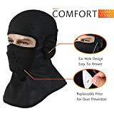 OUMAL Windproof Ski Mask Balaclava Fleece Hood Outdoor Sports Face Mask For Men Women