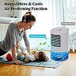 Mini-Condizionatore-Portatile-Raffrescatore-Evaporativo-Umidificatore-Purificatore-Raffreddatore-Daria-Climatizzatore-Air-Cooler-con-Raffreddamento-per-CasaUfficioCamper-3-Velocita-24H-Timer