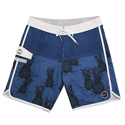 - ISLAND DAZE BBO - Mens Boardshort Bottle Opener Surf, Swim Tailgate Quick Dry Swim Trunks