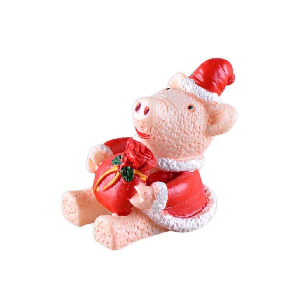 GUOYIHUA Christmas Animals Toys,Ornament Resin Miniature Christmas Crafts Decoration Small Animal