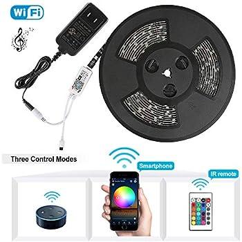 Amazon Com Nexlux Led Strip Lights Wifi Wireless Smart