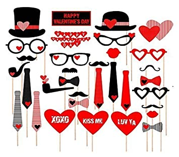 valentines day photo booth props wedding photo booth attached no diy required wedding party decorations