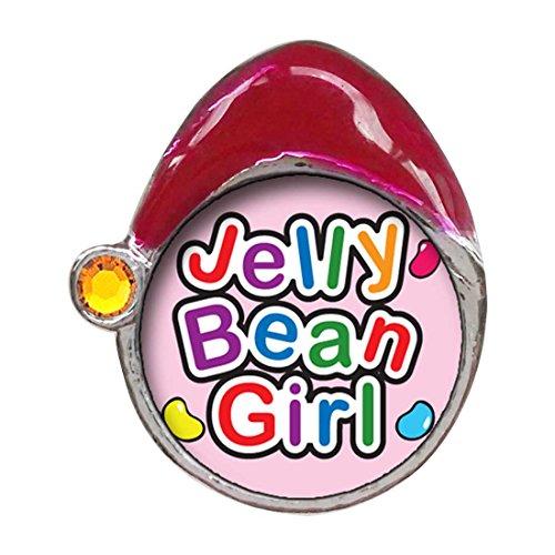 GiftJewelryShop Cartoon Theme Topaz Crystal November Birthstone Santa Hat Charms, Jelly Bean Girl Easter