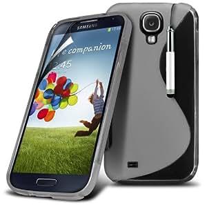 (Clara) Samsung Galaxy S4 i9500 Protector Gel onda S Línea piel cubierta retráctil Capacative Pantalla Táctil Lápiz Óptico & Paquete de 10 Pantalla LCD Protector de Spyrox