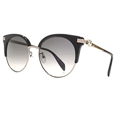 Alexander McQueen Iconic Skull Cateye Sunglasses in Black AM0082S 001 56 56 Gradient Grey Black E7U3r