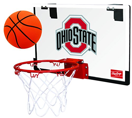 Rawlings NCAA Ohio State Buckeyes 00673042111NCAA Game On Polycarbonate Hoop Set (All Team Options), Red, ()