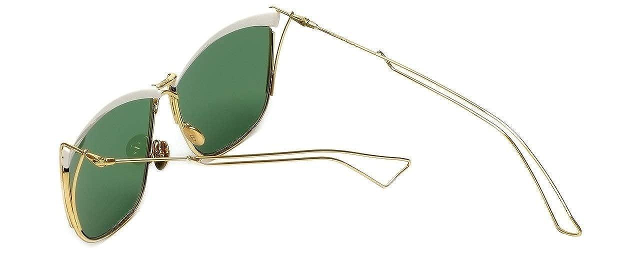 1e7790659d Amazon.com  Christian Dior Sunglasses SO ELECTRIC 266DJ White Gold Frame  Green Lens  Clothing