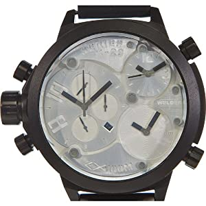 Welder by U-boat K29 Triple Time Zone Chronograph Black Mens Watch Calendar K29-8000
