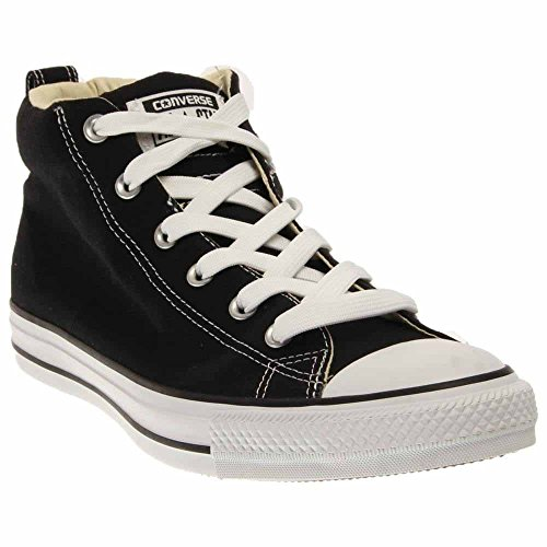 CONVERSE Unisex Chuck Taylor Street Mid Fashion Sneaker Shoe - Black/Natura - Mens - 6 (6-8 Christmas Black Men)