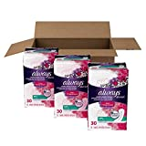 Always Discreet Incontinence Liners for Women, Ultra Thin, Regular Length, 90 count
