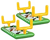 Mantello Portable Inflatable Buffet Serving Bar Football Field for Food Drinks w/Drain Plug (Set of 2)
