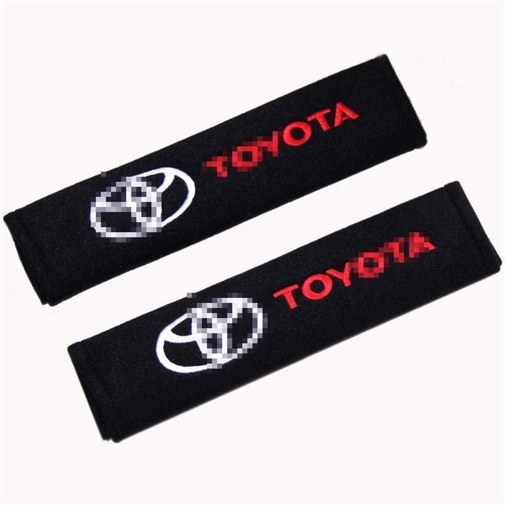 LZLWL Auto Gurtpolster 2ST Auto-Sicherheitsgurt-Abdeckung Auto-Styling Auto-Kasten F/ür Toyota Corolla Rav4 Auris Camry Yaris CHR Avensis Gurtpolster