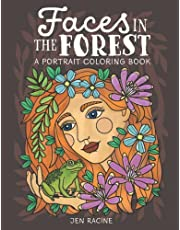 Faces in the Forest: A Portrait Coloring Book