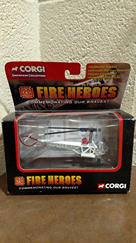 Fire Department Helicopter - Bell 47 L.a. City Fire Department Helicopter By Corgi Fire Heroes Edition
