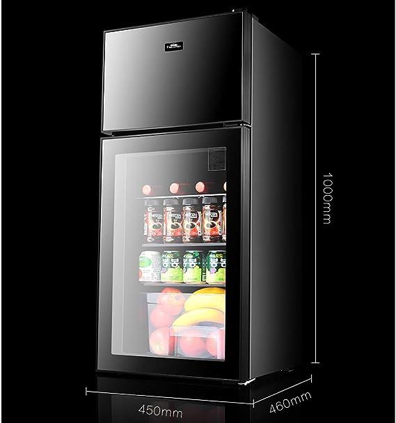 Refrigerador Compacto De Doble Puerta Mini Refrigerador con ...