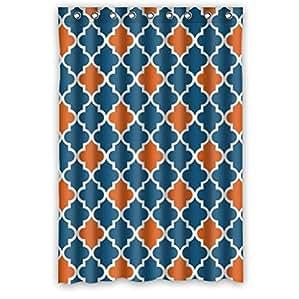 best seller moroccan orange and navy cornflower blue moroccan tile quatrefoil custom. Black Bedroom Furniture Sets. Home Design Ideas